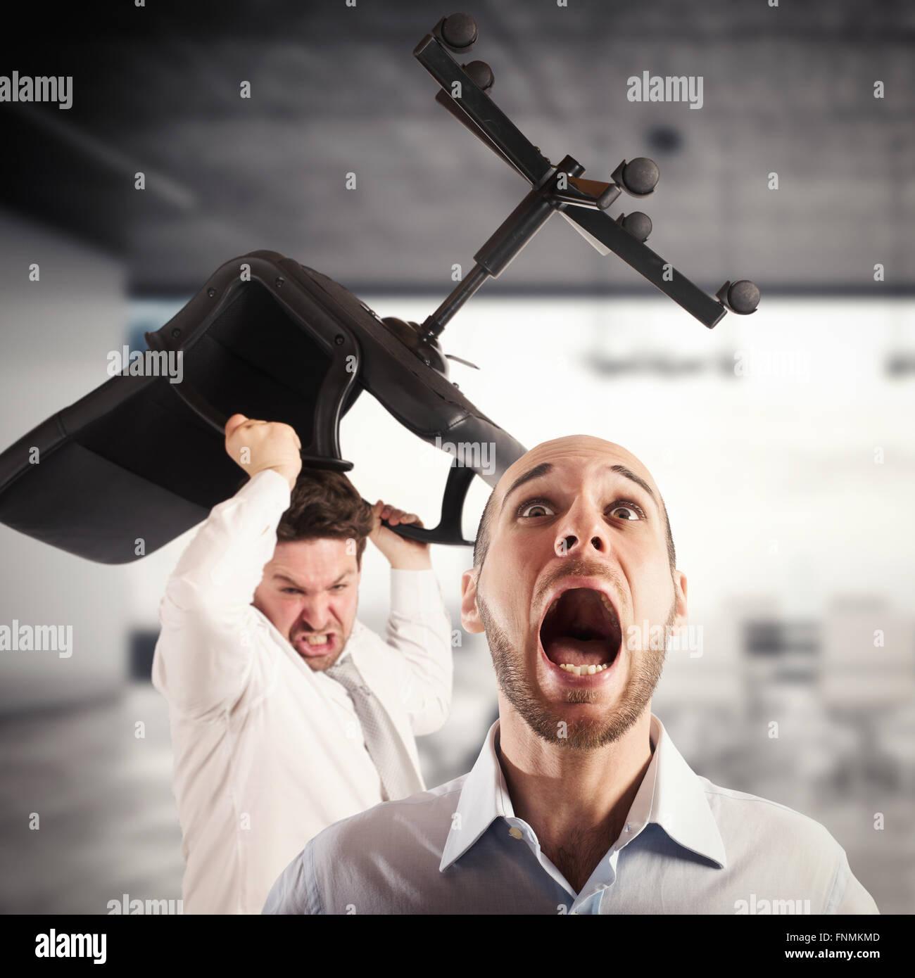 La tension dans le bureau Photo Stock