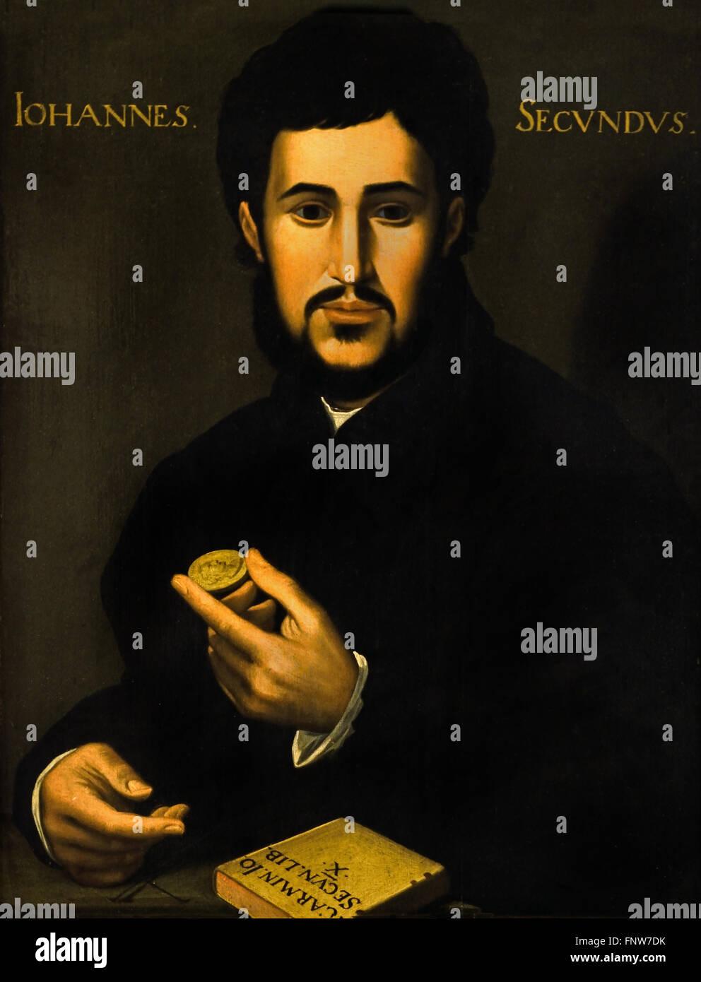 Johannes Secundus Janus Secundus (aussi) 1511 - 1536 1540 École Hollandse était un nouveau poète Photo Stock