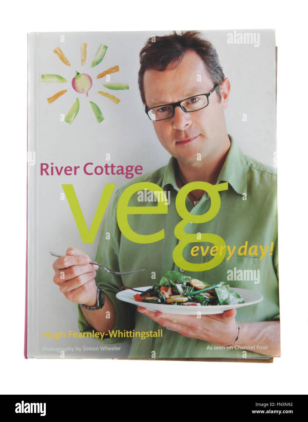 Le livre de recettes - River Cottage Veg chaque jour par Hugh Fearnley Whittingstall Photo Stock