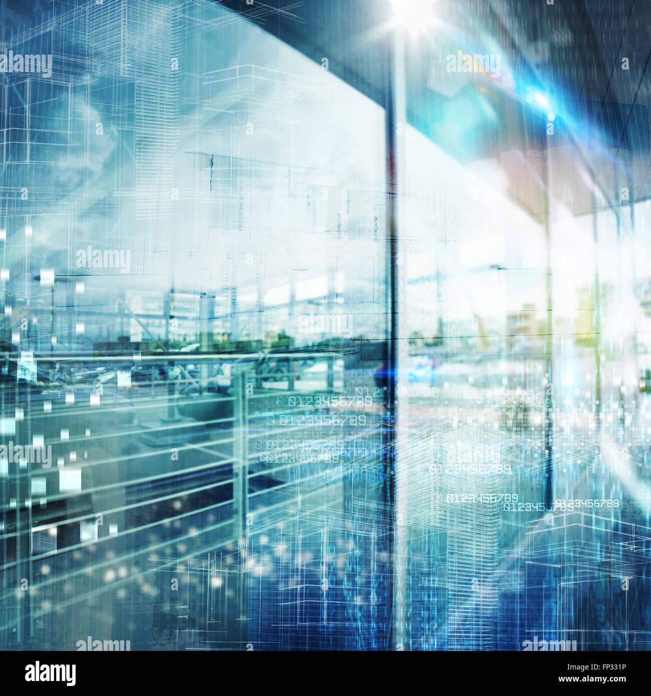 Arrière-plan de haute technologie futuriste Photo Stock