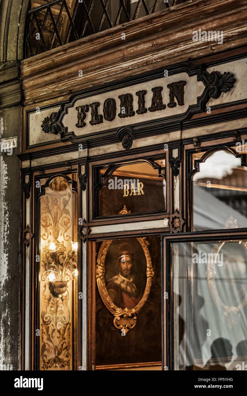 Florian Café, Place Saint Marc, San Marco, Venise, Italie, Europe Photo Stock