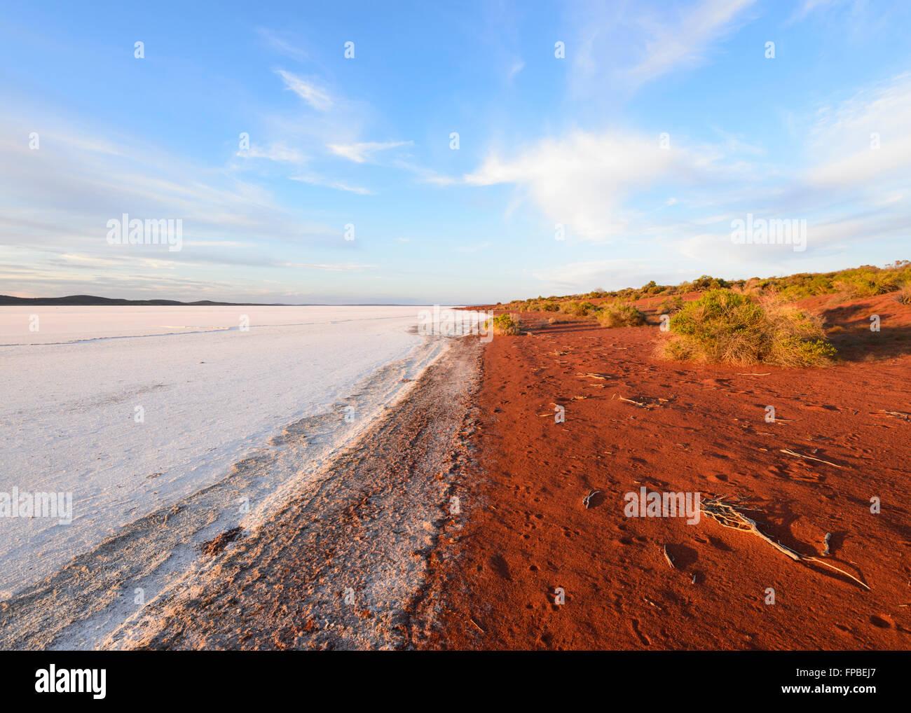 Gairdner Lac, dans le sud de l'Australie, SA, Australie Photo Stock