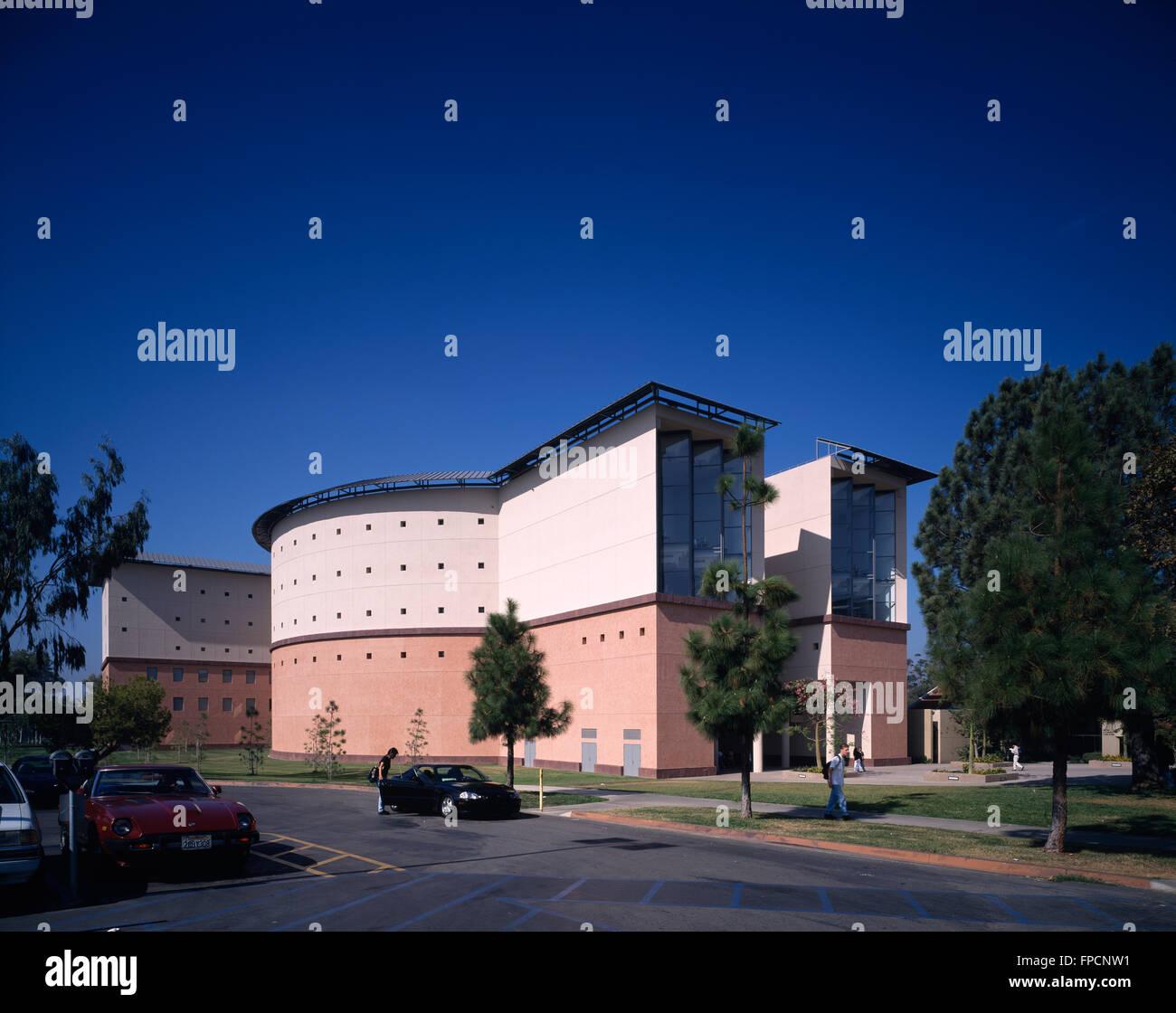 La bibliothèque des sciences de l'UCI à l'UCLA, Université de Californie, Los Angeles Photo Stock