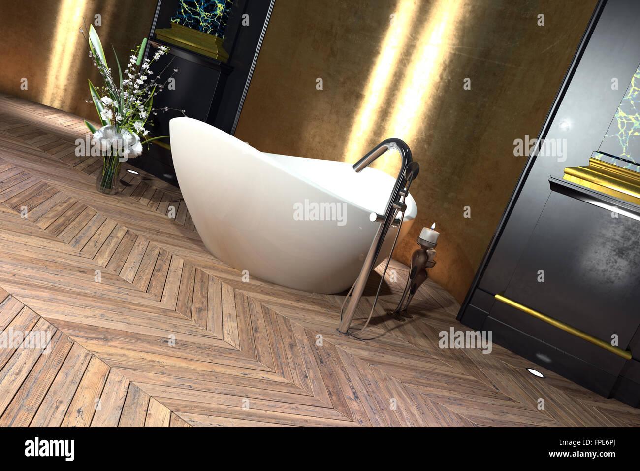 Globe Luminaire Salle De Bain ~ baignoire sur pieds en forme de bateau moderne dans un int rieur