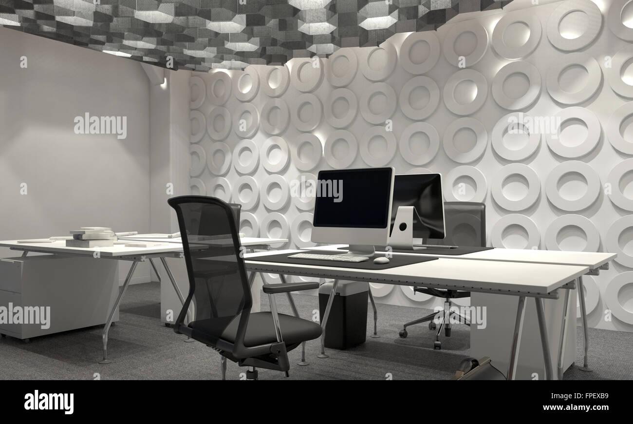 Le bureau de gestion d entreprise moderne avec un intérieur à
