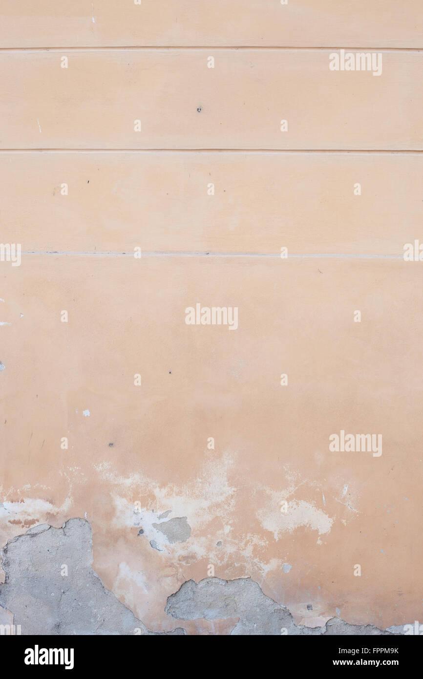 Mur peint avec la peinture écaillée off Photo Stock
