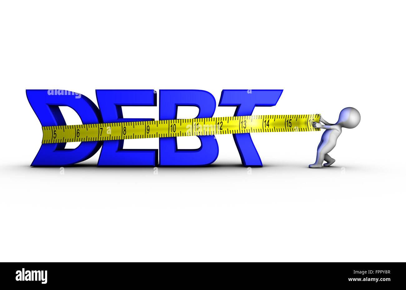 Réduction de la dette Photo Stock