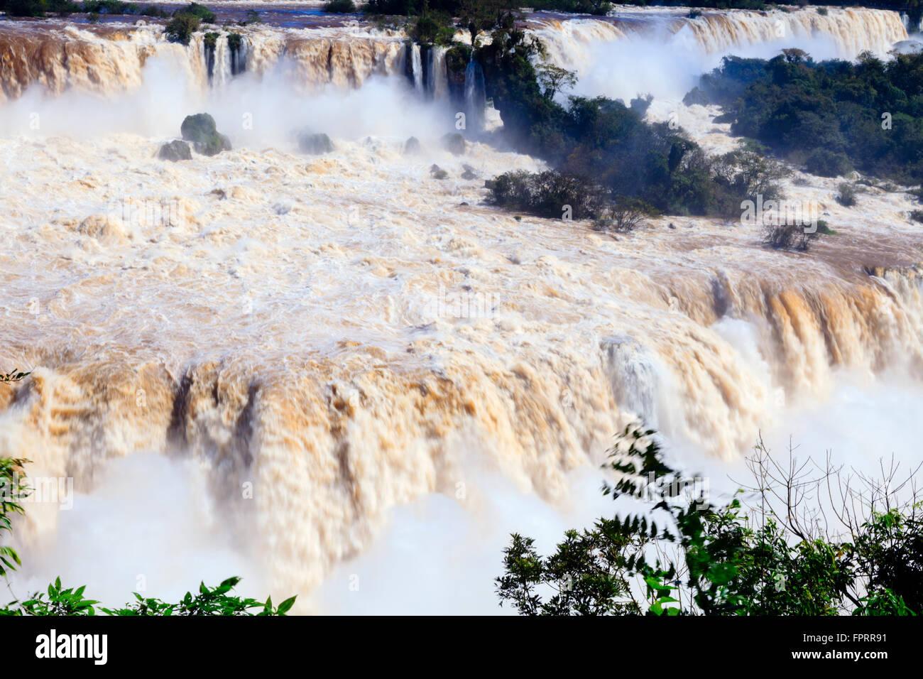 Iguacu/Iguassu/chutes d'Iguaçu, à la frontière de l'Argentine et le Brésil Banque D'Images