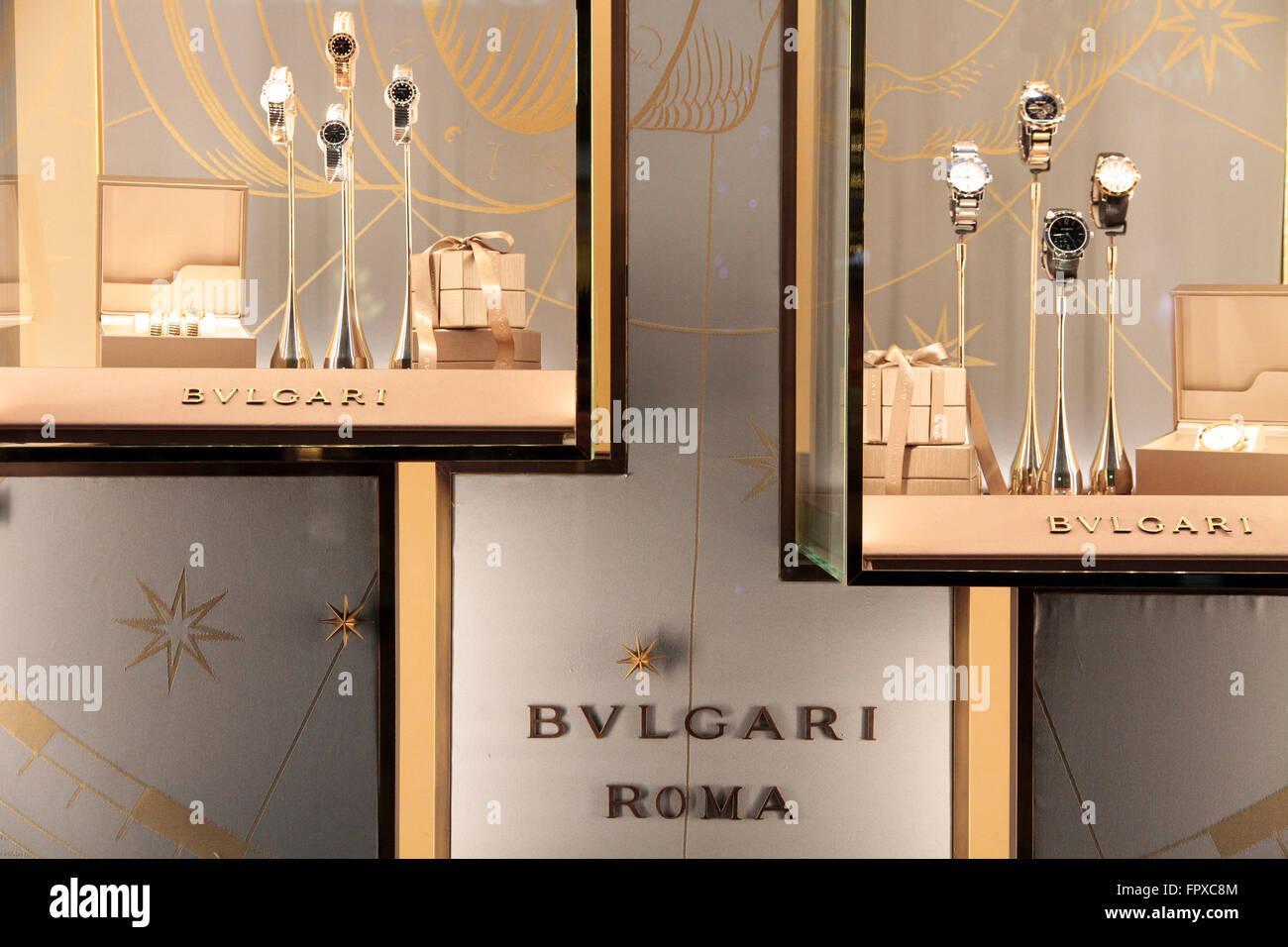 59f740118ec Bijoux Bulgari watch Brand store de fenêtre dans la via Condotti Rome Italie