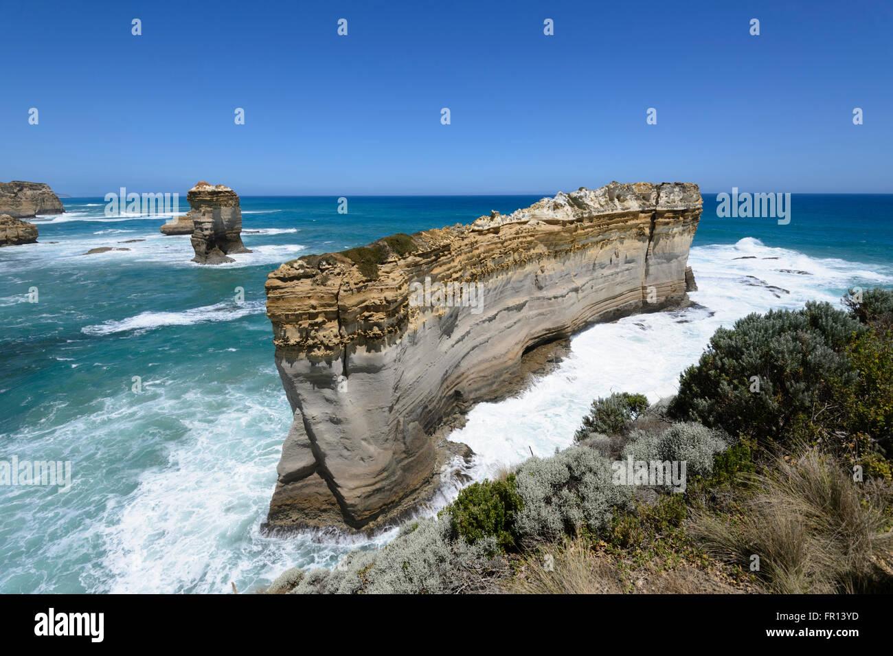 Le Razorback, Great Ocean Road, Victoria, Victoria, Australie Photo Stock
