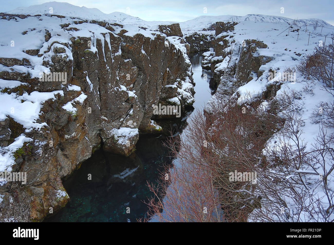 Faute tectonique Islande Photo Stock