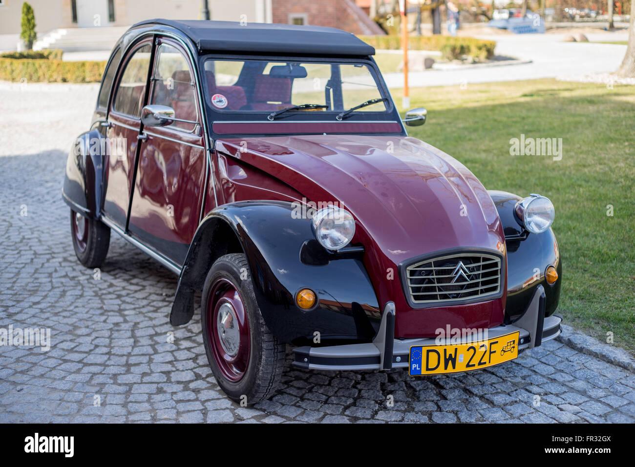 Citroën 2 CV vintage car Photo Stock