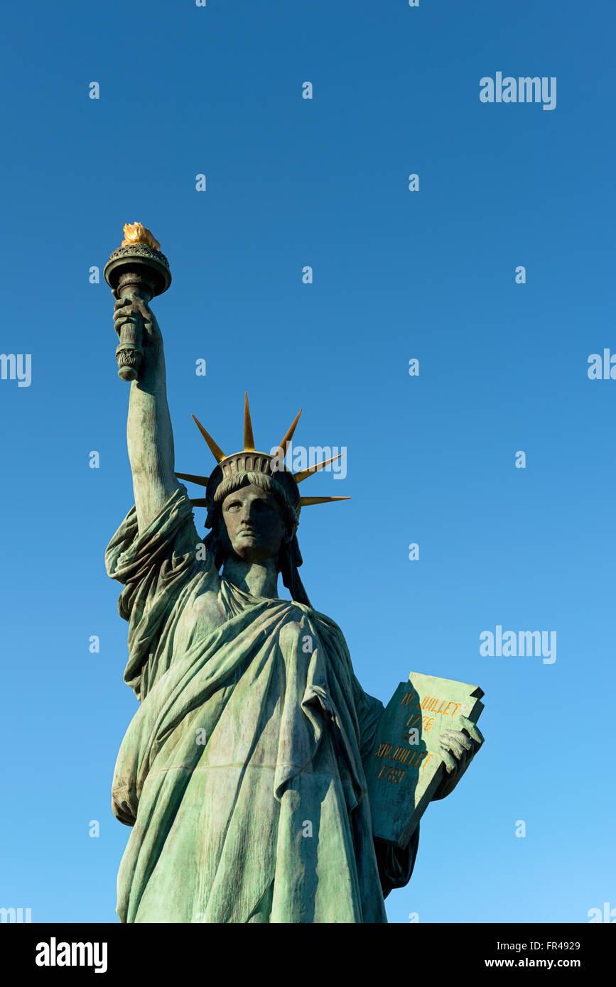 Statue de la liberté, à Odaiba, Tokyo. Photo Stock