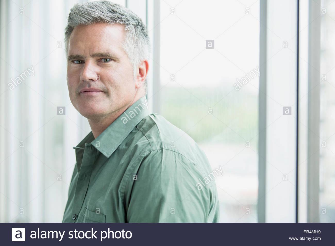 Portrait of businessman with regard sérieux Photo Stock