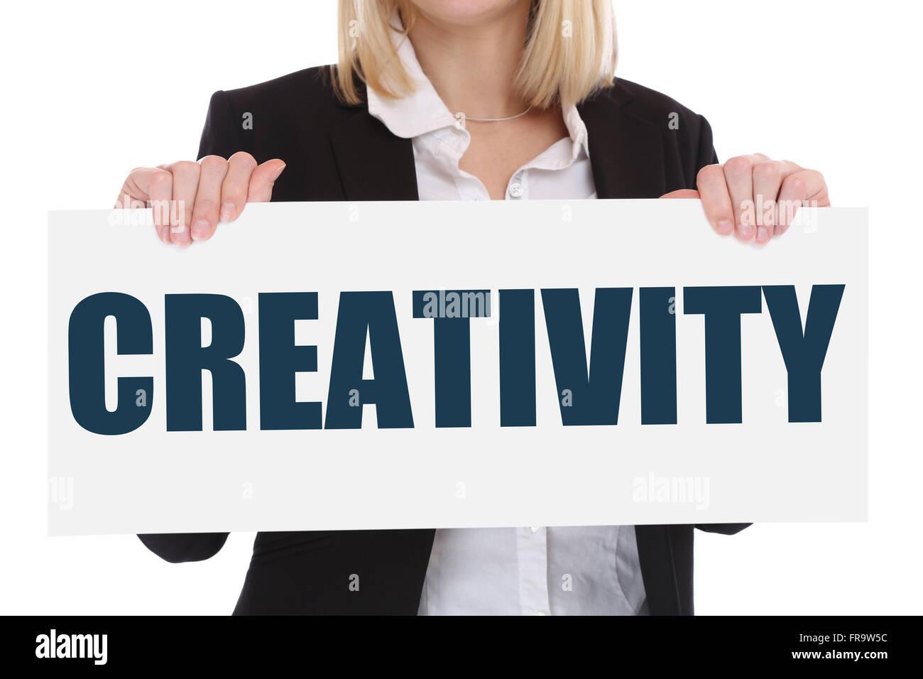 La créativité de la pensée créative imagination imaginer le succès du concept d'entreprise Photo Stock