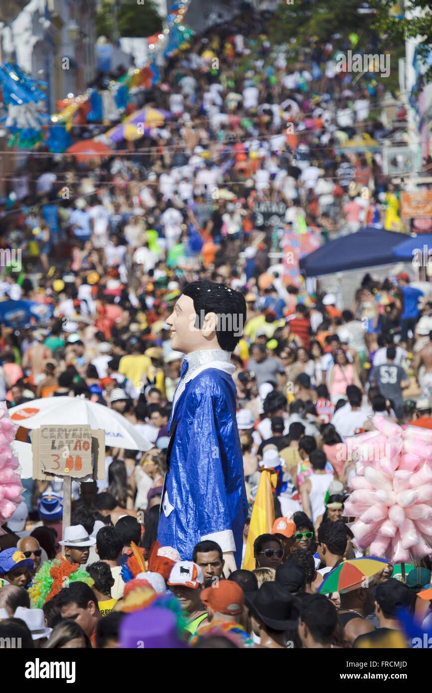 Parade de carnaval avec des marionnettes quinze Street en novembre Photo Stock