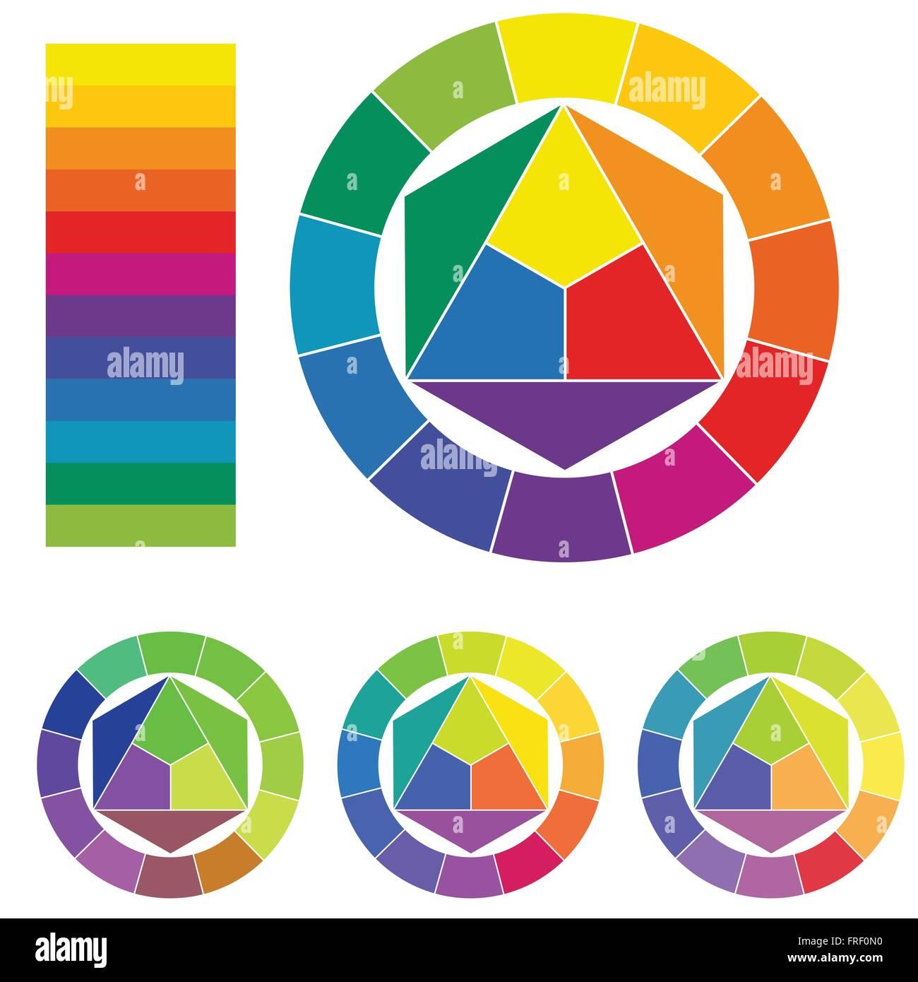 Cercle Chromatique 3d Vecteurs Et Illustration Image Vectorielle
