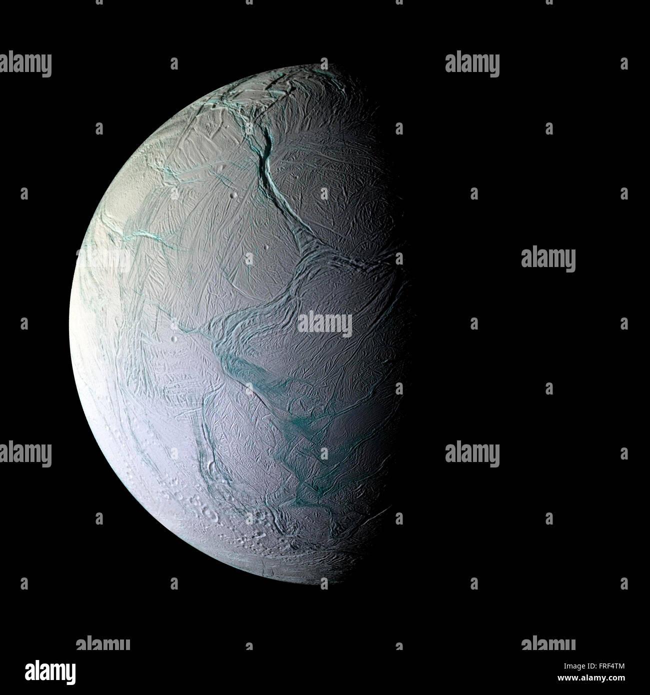 Encelade planète isolée Photo Stock