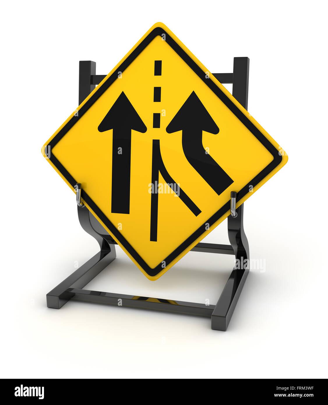 Panneau routier - carrefour , c'est un calculateur générée et 3d rendu photo. Photo Stock
