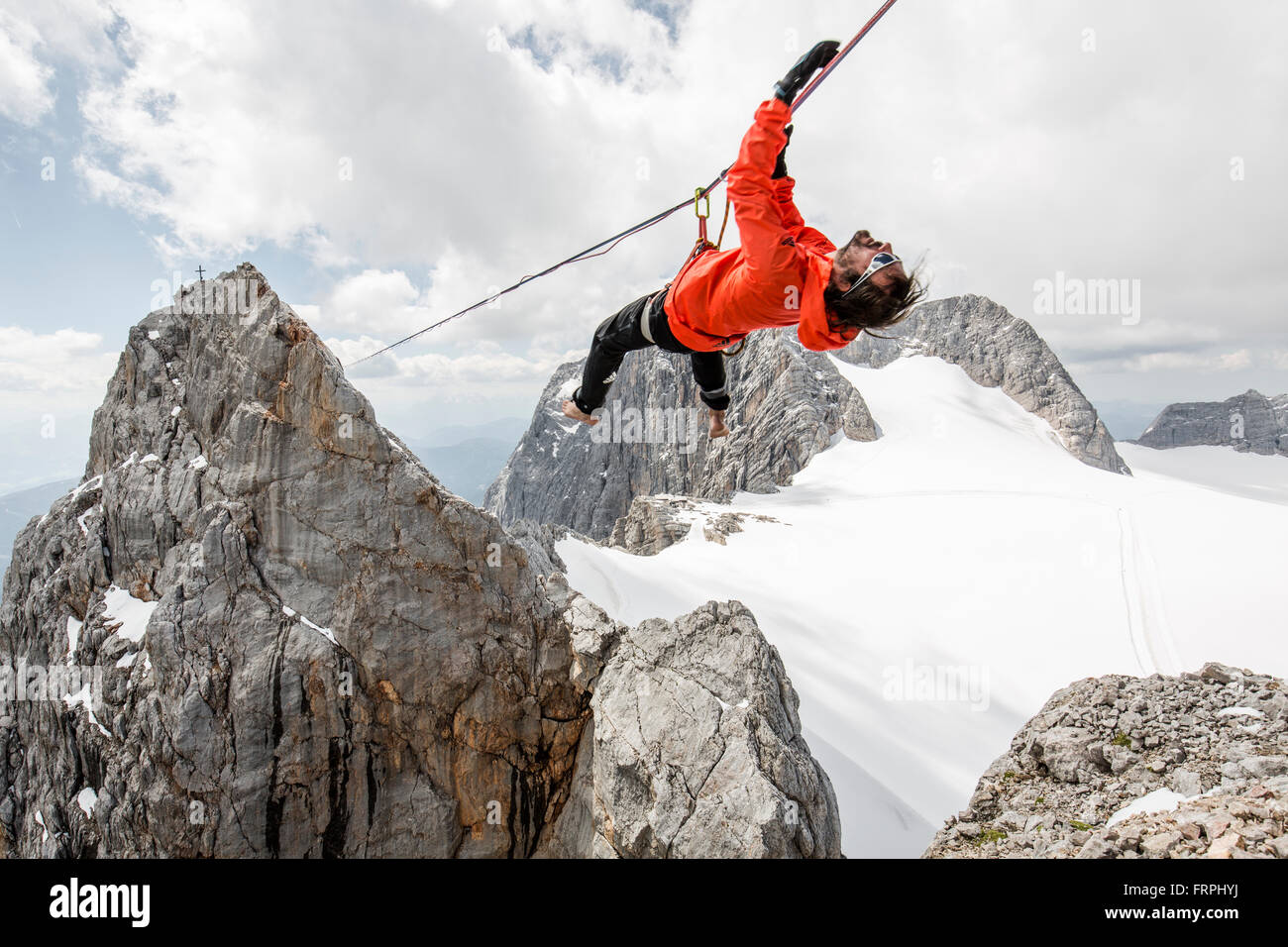 Projet Highline Alpine Photo Stock