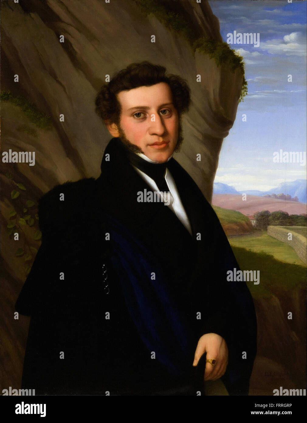 Eduard Friedrich Leybold - Portrait de Sam Ehrenstamm Photo Stock