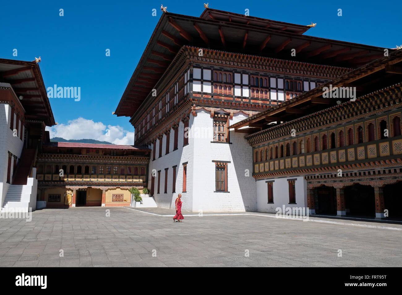 Tashichho Dzong, Thimphu, Bhoutan. Photo Stock