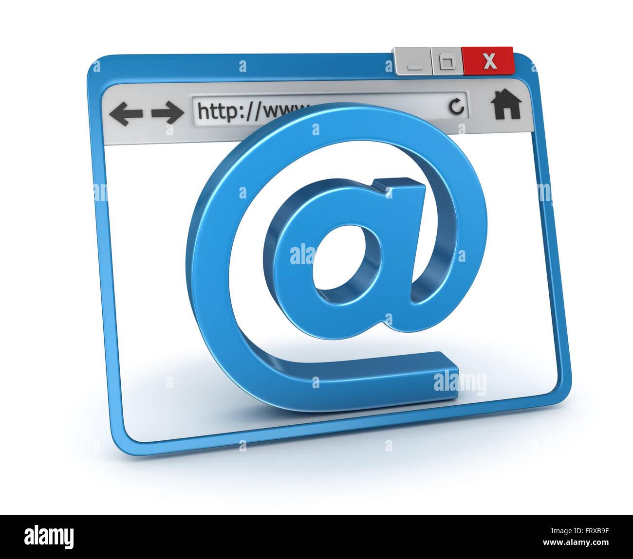 E-Mail Concept , c'est un calculateur générée et 3d rendu photo. Photo Stock