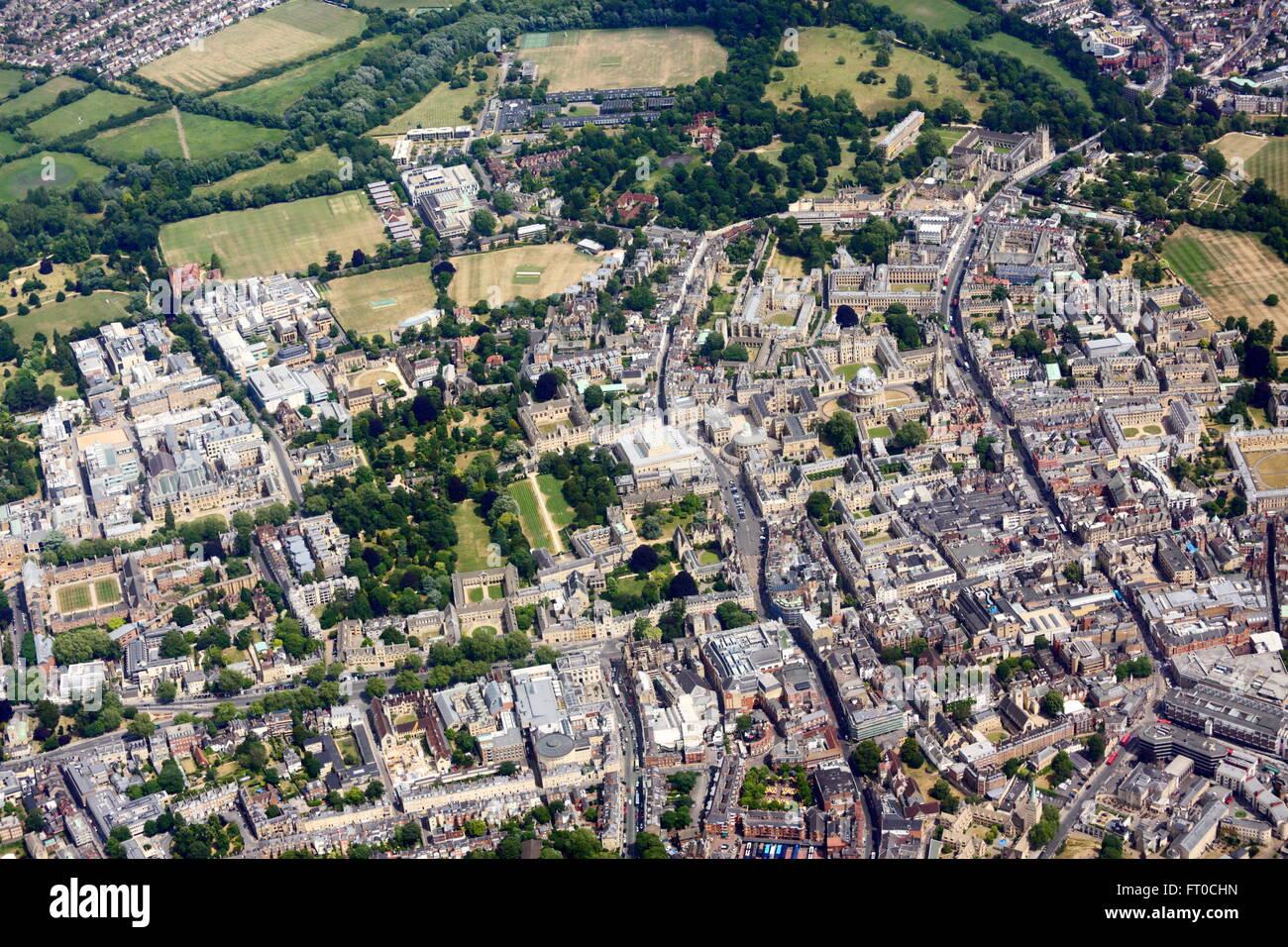 Vue aérienne d'Oxford Photo Stock