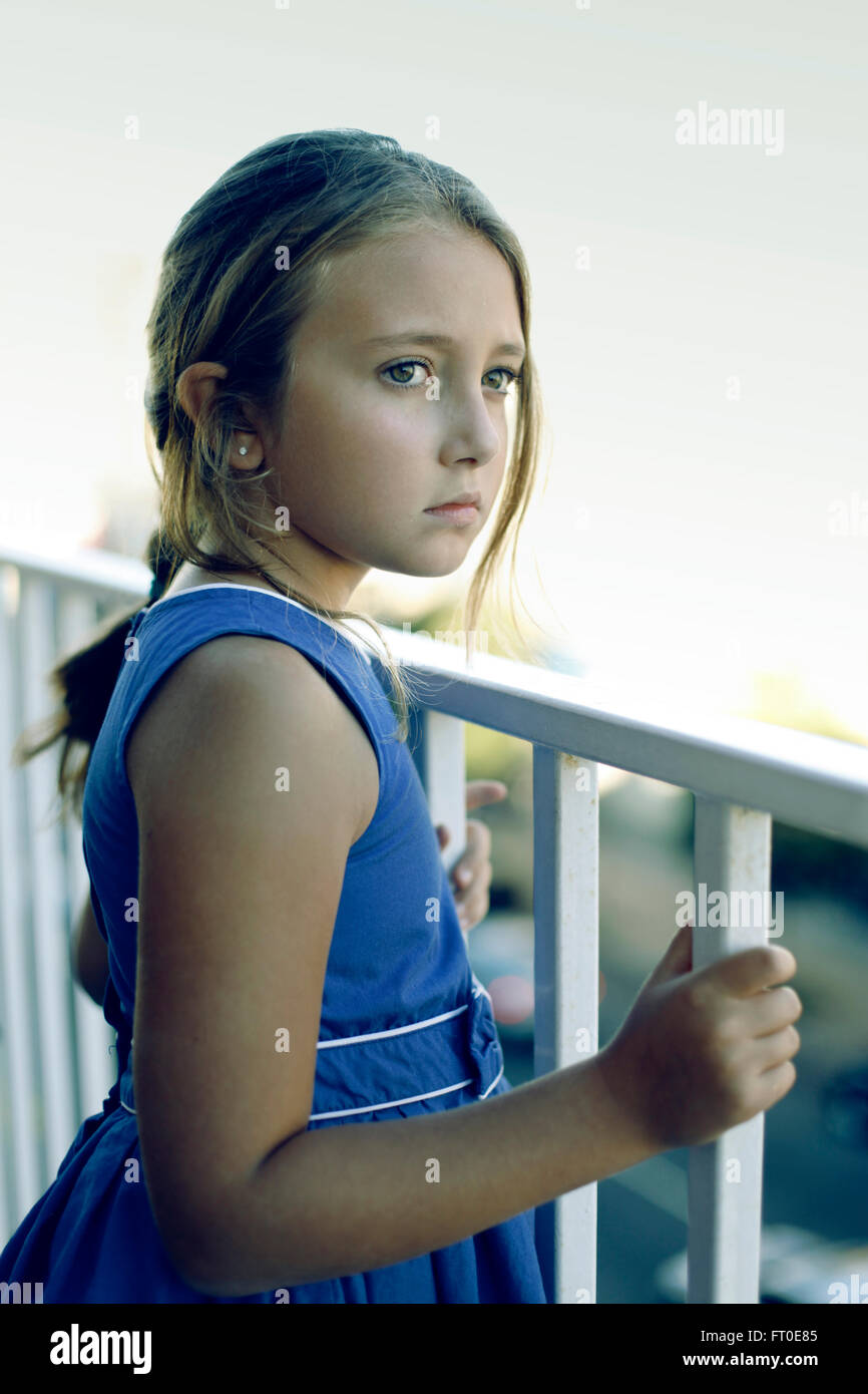 Portrait de jeune fille Photo Stock