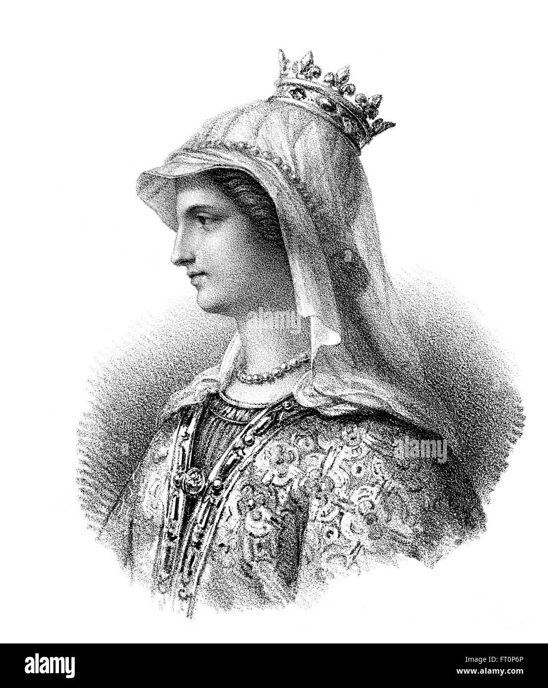 Ingoberga, ch. 520-589, la première épouse du roi Franc François I, ou Cherebert, ch. Ingoberga, 517-567, 520-589, um die ers Banque D'Images