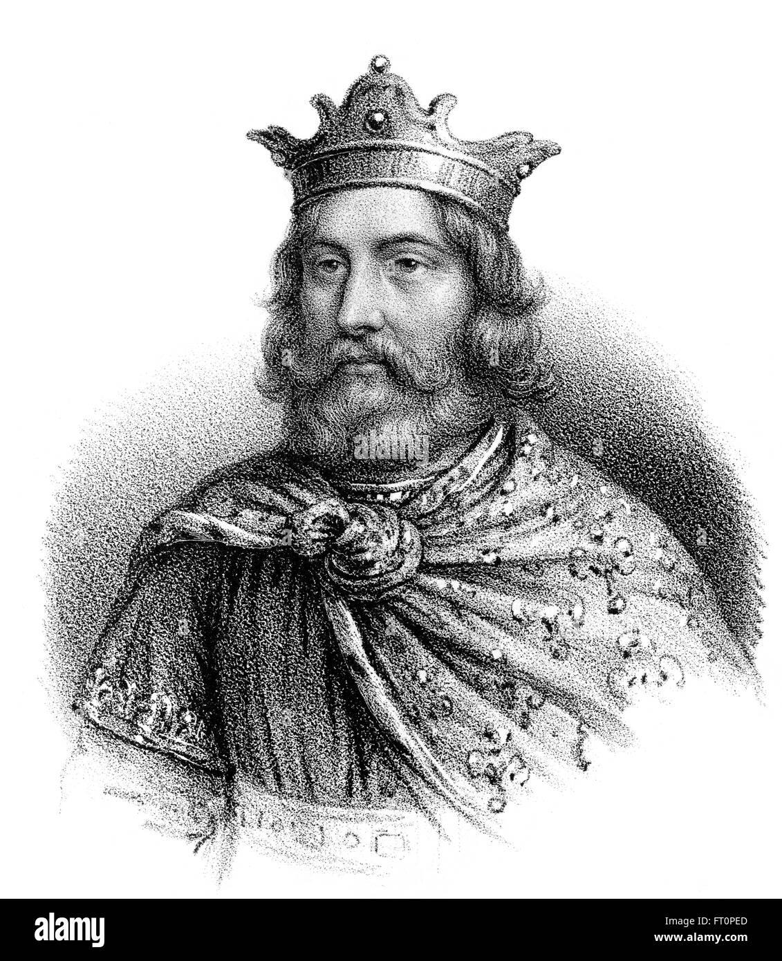 Childebert I, ch. 496-558, un Roi franc de la dynastie Mérovingienne, roi de Paris et d'Orléans, Childebert I, ch. 496-558, König Banque D'Images
