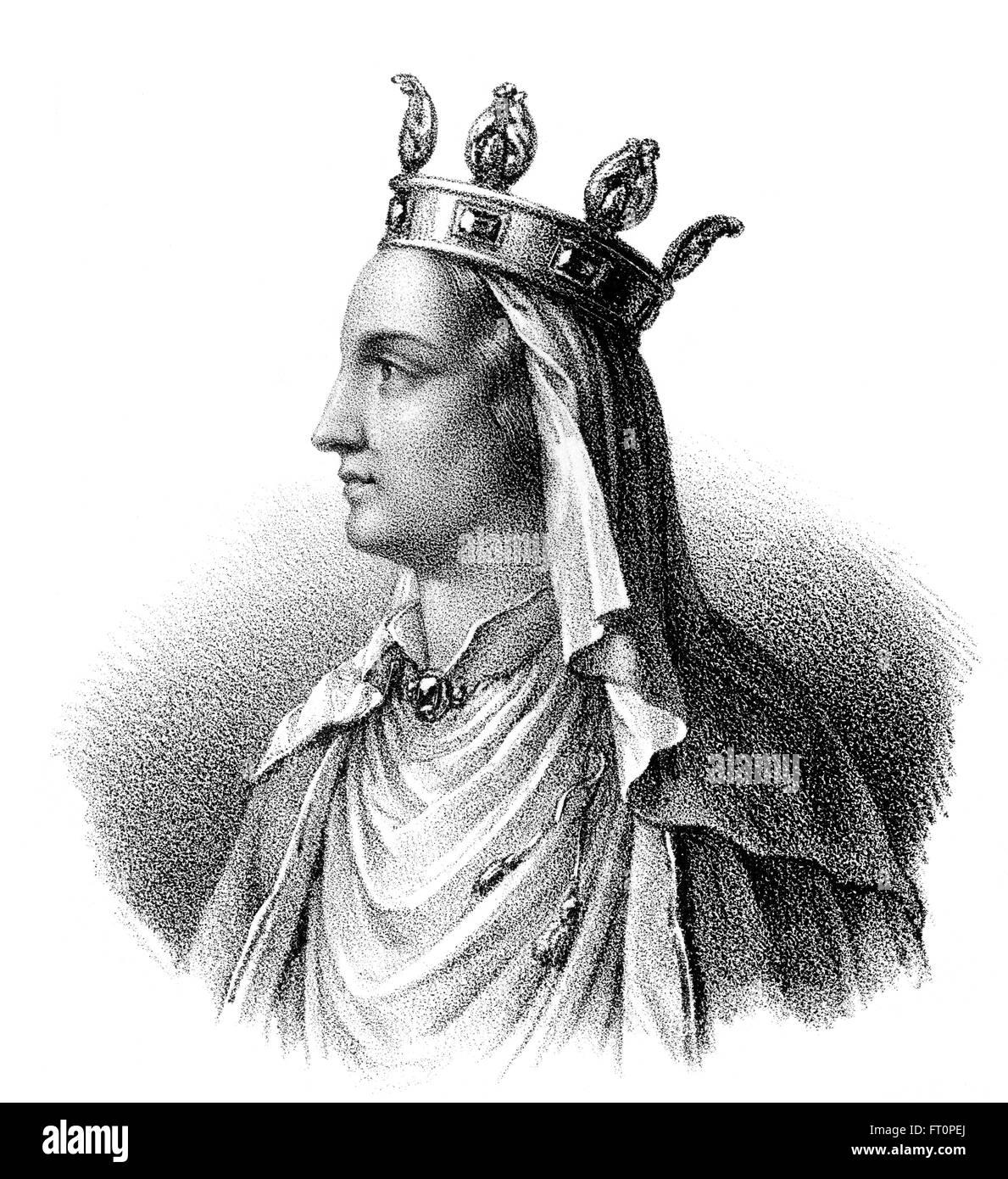 La Reine Ultrogothe, Ultrogotho ou Ultragotha, épouse de Childebert I, ch. 496-558, un Roi franc de la dynastie mérovingienne Banque D'Images