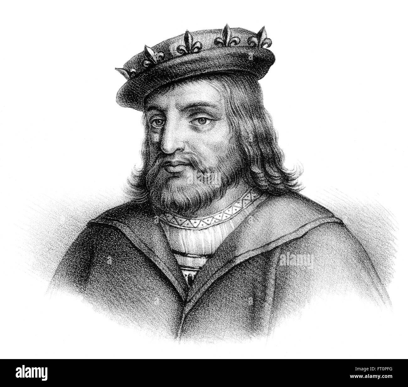 Childéric I, ou Childericus Childerich; c. 440-481/482, un roi mérovingien des Francs saliens Banque D'Images