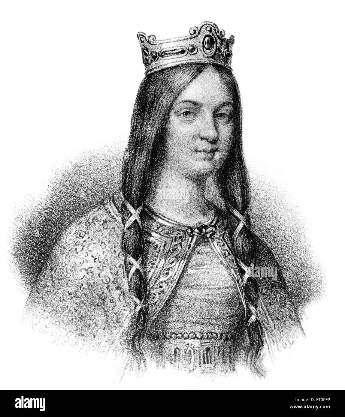 Basina, Basena, malheureusement, ou c. 438-477, une reine de Thuringe et la femme de Childéric I, ou Childericus Childerich; c. 440-481/482, Banque D'Images