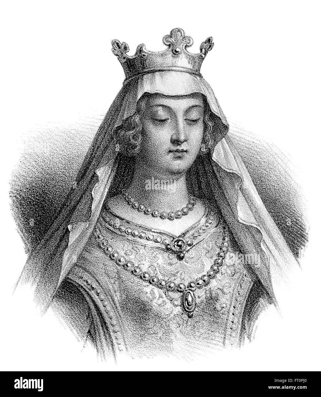 Sainte Clotilde, 475-545, également connu sous le nom de Clothilde, Clotilda, Clotild, Rotilde, Chrodechildis Chlodechildis,, la deuxième épouse de t Banque D'Images