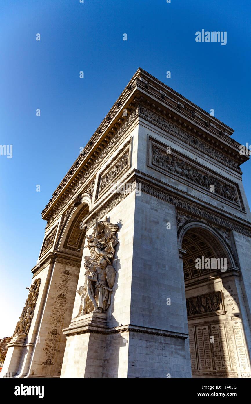Arc de Triomphe à Paris Photo Stock