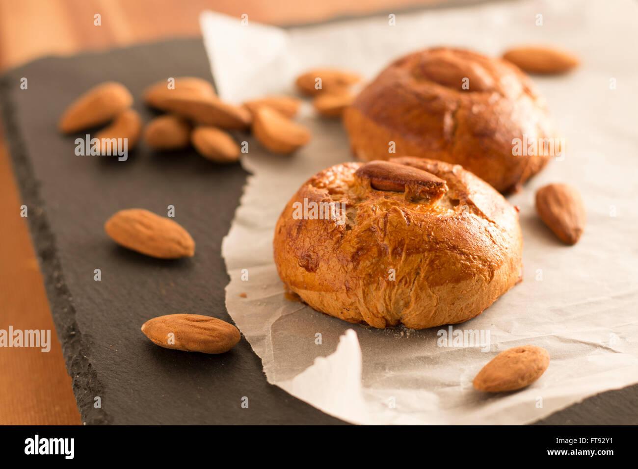 Gâteau de Pâques aux amandes Photo Stock