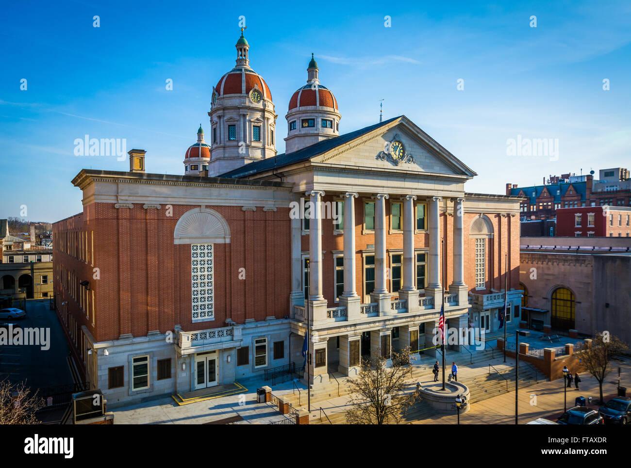 Vue sur le palais de justice du comté de York, à York, Pennsylvanie. Photo Stock
