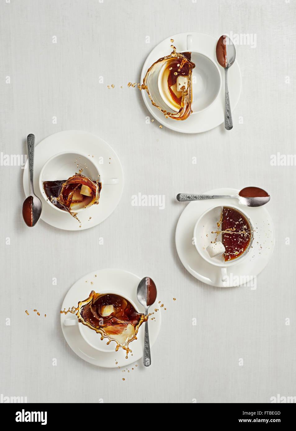 Avec du sucre sans lait Photo Stock