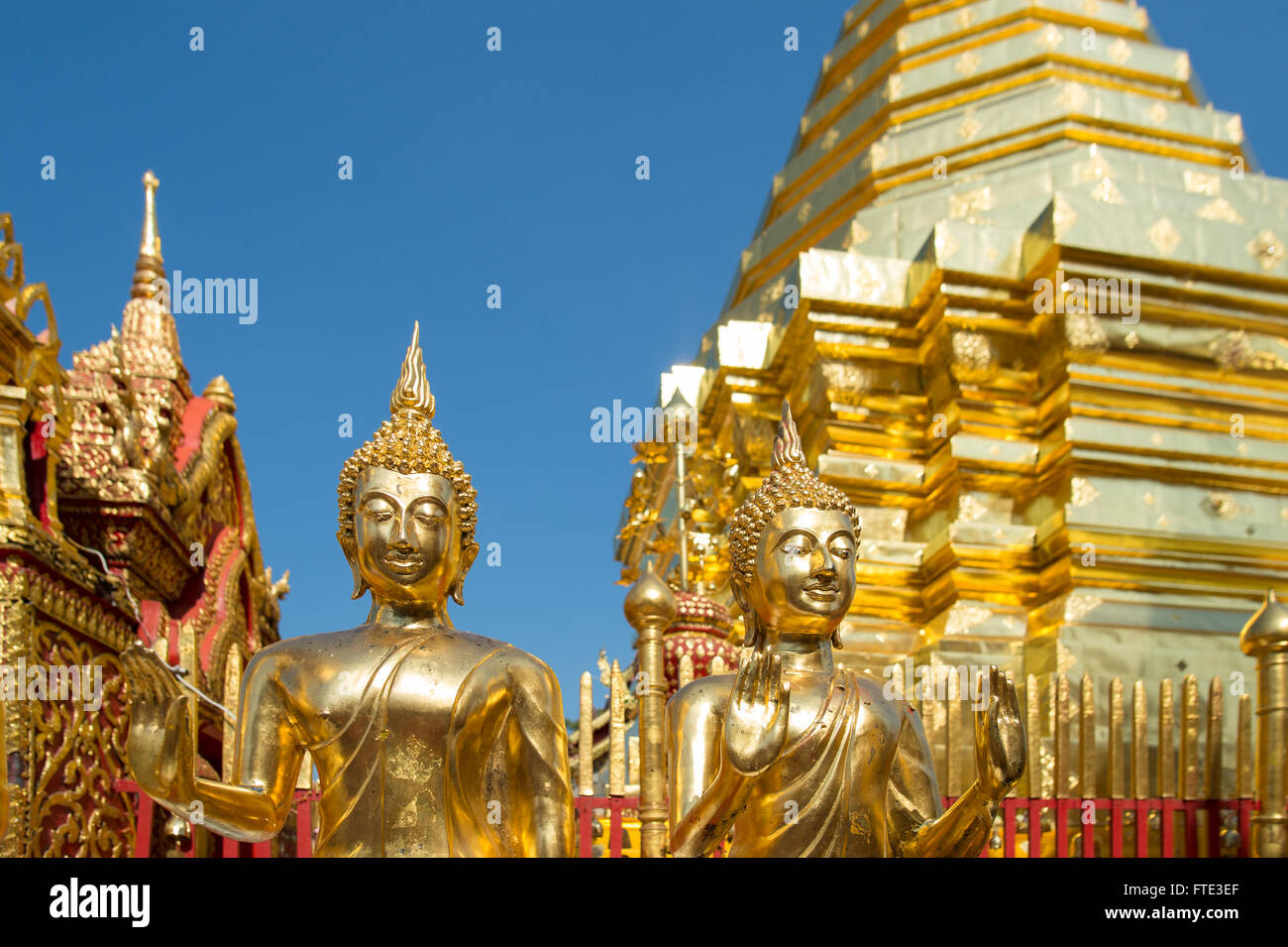 Wat Phra That Doi Suthep à Chiang Mai, Thaïlande Photo Stock