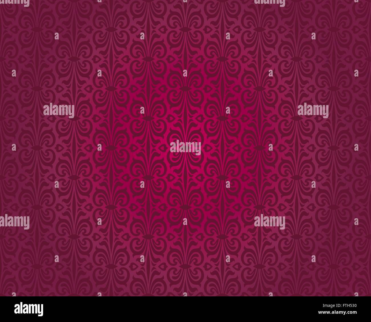 Papier Peint Vintage Rouge Vecteur Seamless Background Design