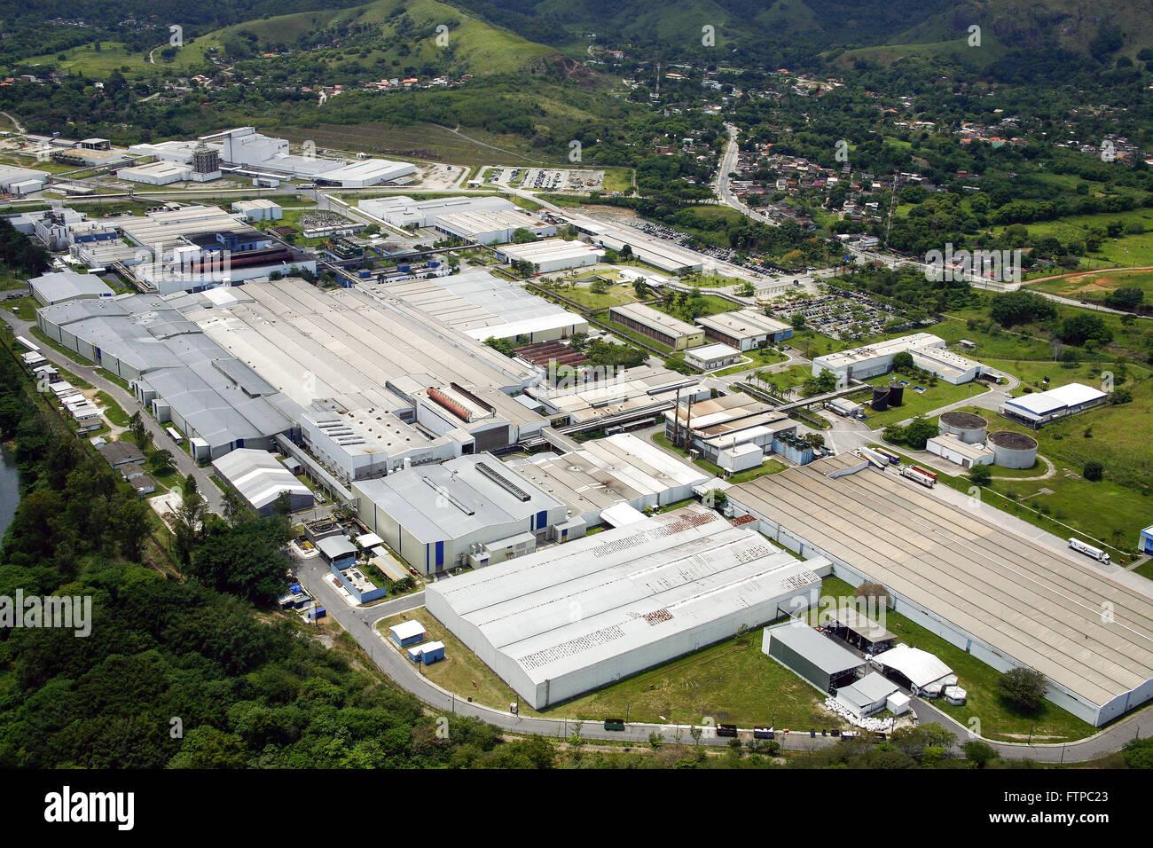 Vue aérienne de l'industrie des pneumatiques Michelin Photo Stock