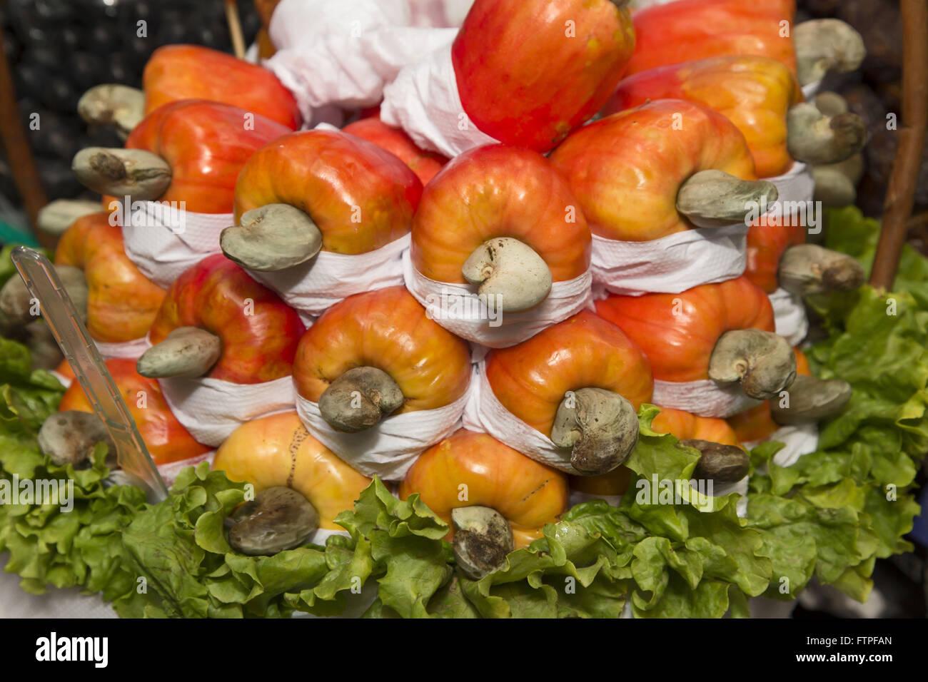 Les noix de cajou Le Marché public de Sao Paulo Photo Stock