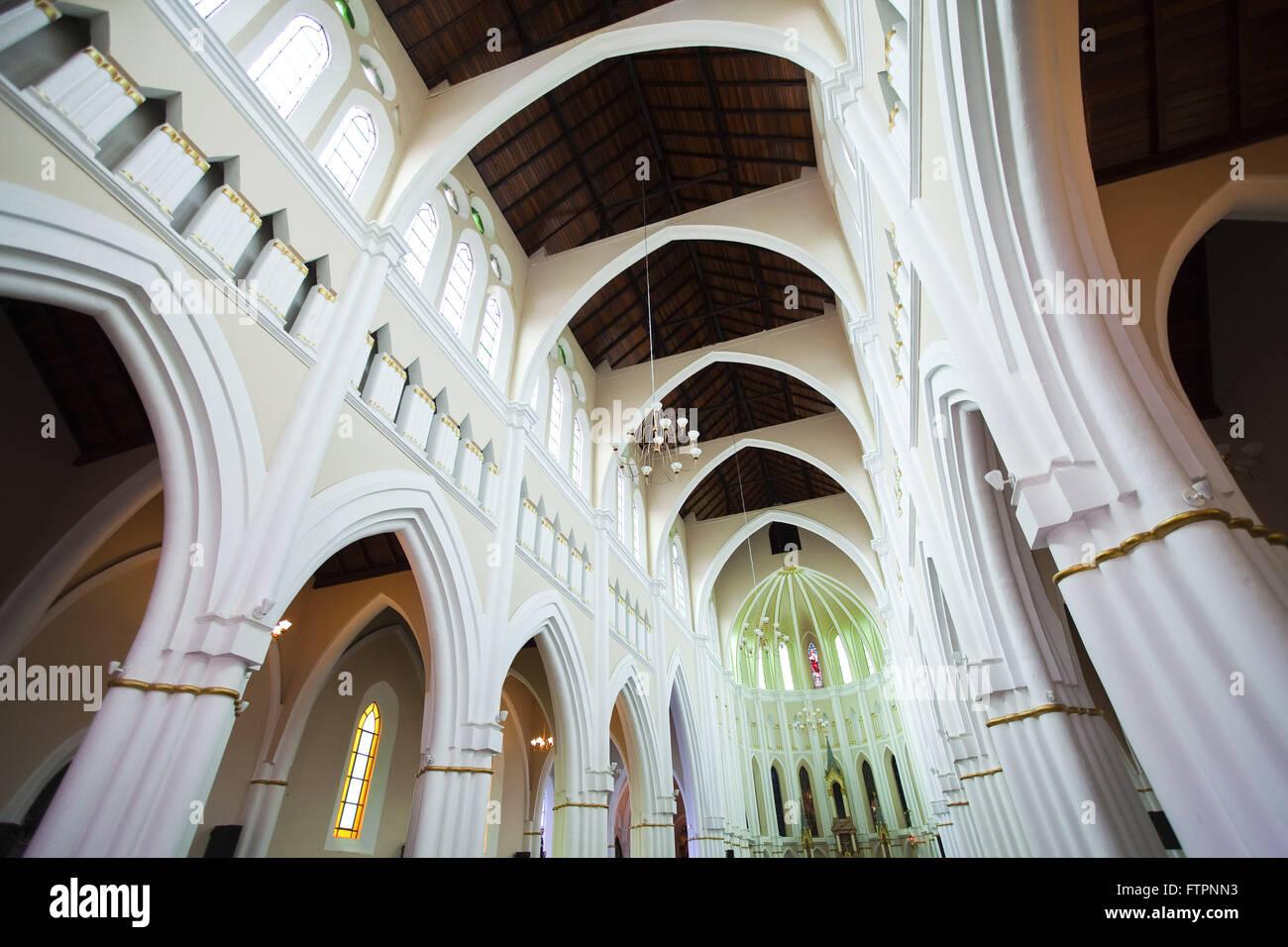Vue intérieure du culte eucharistique, Notre Dame de bon ordre - centre Photo Stock
