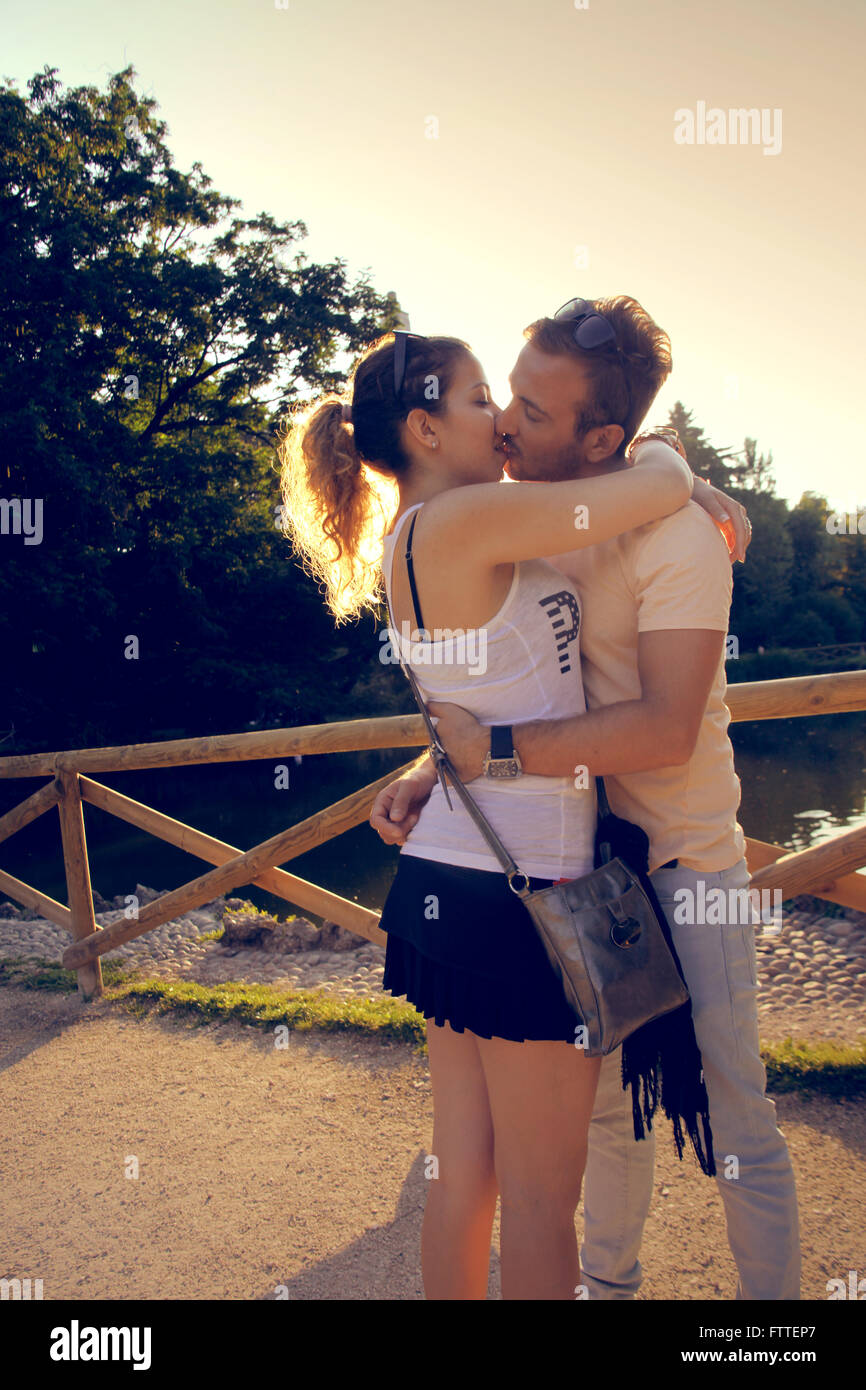 Young couple in love Photo Stock