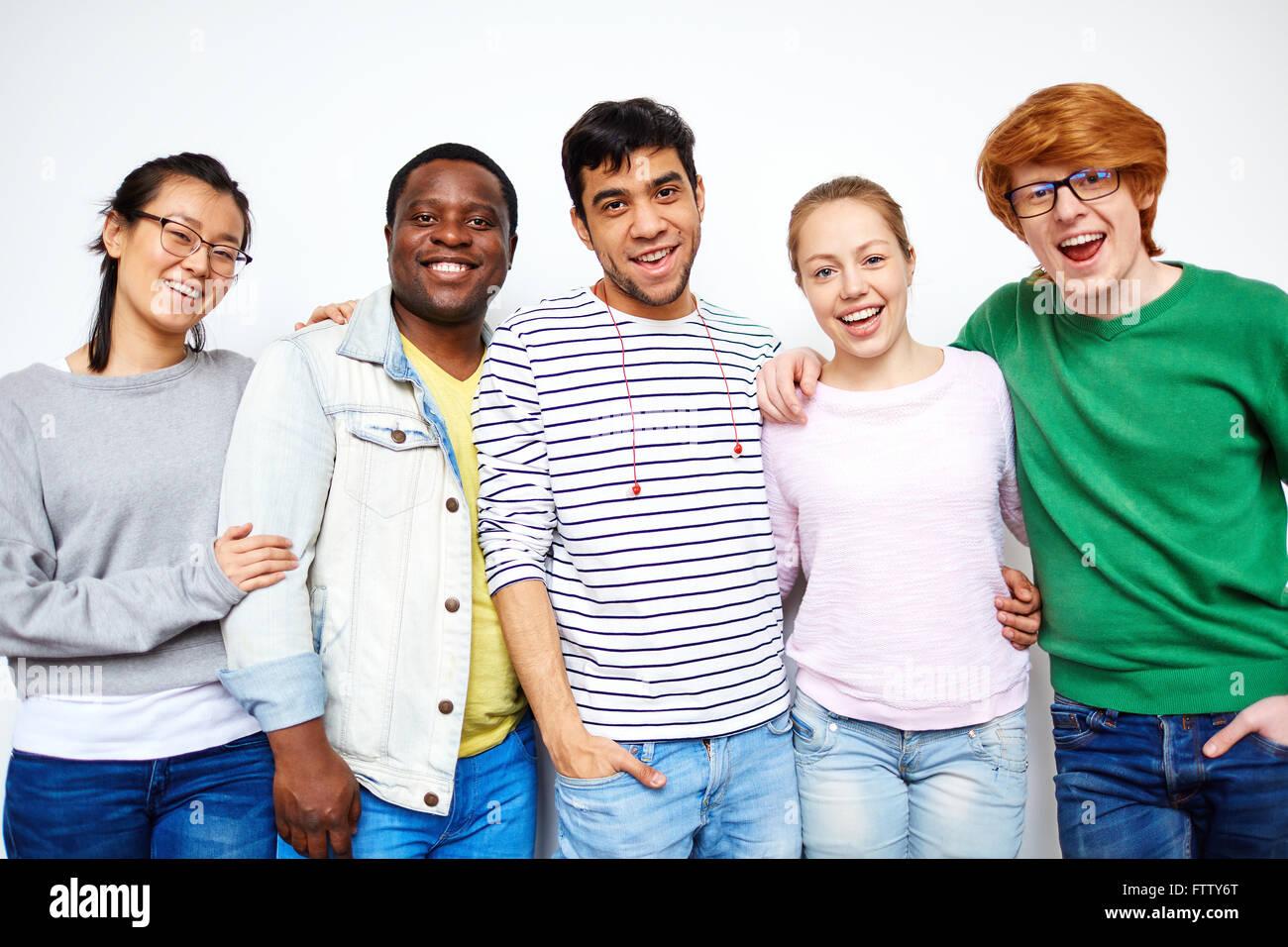 Les étudiants gais Banque D'Images