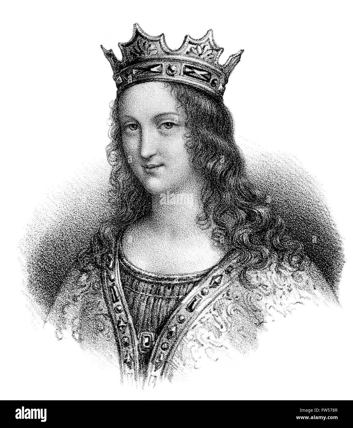 De l'Anjou, Adelaide-Blanche c. 940-1026, épouse de Louis V, appelé le paresseux; c. 966/67 Photo Stock
