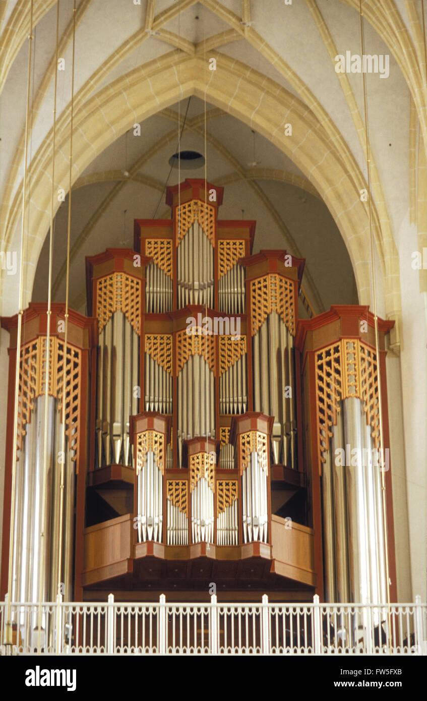 la frauenkirche vue de lorgue dans lintrieur de lglise de munich en allemagne orgue de georg jann 1994 4 manuels 95
