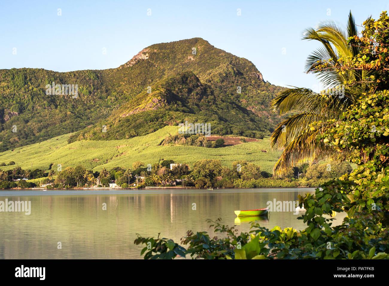 Paysage de la côte est de l'île de Maurice. Photo Stock