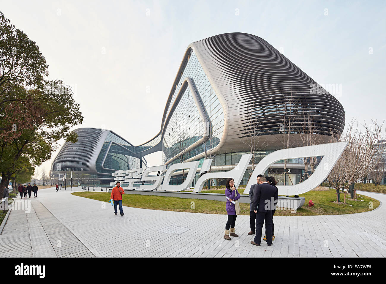 Approche de la construction complexe avec signalisation sky soho shanghai chine architecte zaha hadid architects 2014